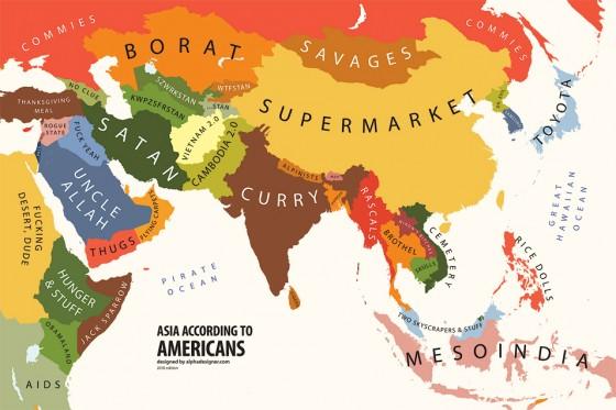 Asia According to USA