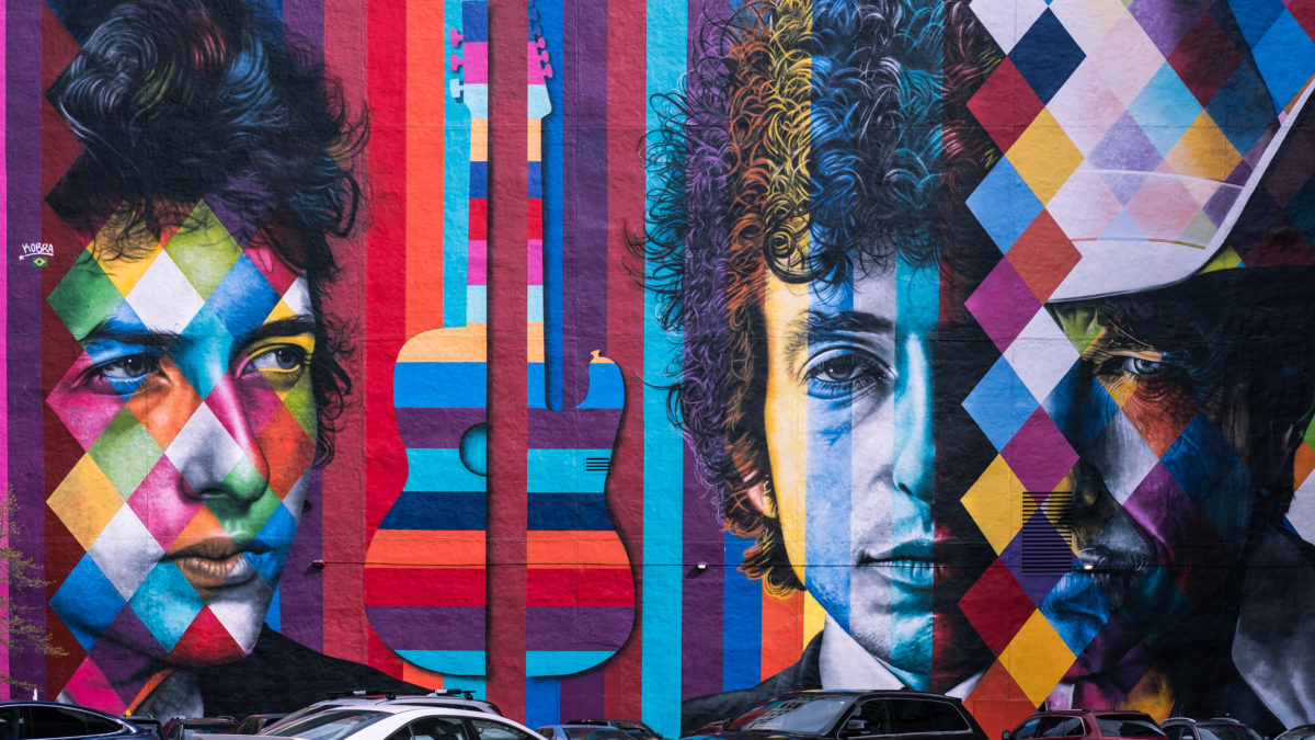 Bob Dylan Mural, Minneapolis