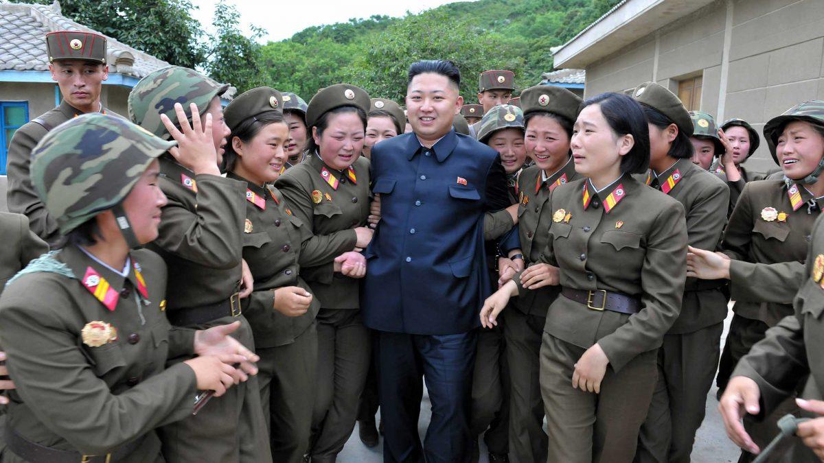 Image: North Korean leader Kim Jong-un visits the Thrice Three-Revolution Red Flag Kamnamu Company under the Korean People's Army Unit 4302